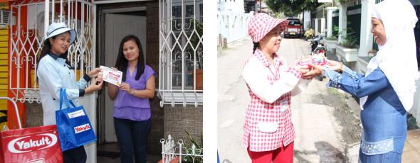 インドネシア、フィリピンのヤクルトレディたち